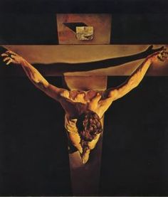 Salvador Dali - Christ of St John of the Cross [1951] Surrealism, religious painting, oil on canvas