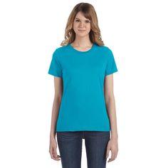 Anvil Women's Caribbean Blue Lightweight T-Shirt