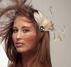 Victorian Feather Hair Clip