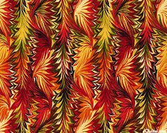 Bountiful - Feather Decor - Flame Red