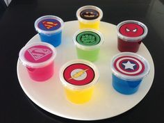 1 x Super Hero Jelly Cups (Empty) Birthday Party Supplies Superhero Decorations in Home & Garden, Parties, Occasions, Balloons, Decorations 1st Birthday Games, Birthday Games For Adults, Birthday Parties, Super Hero Birthday, Birthday Balloons, Birthday Wishes, Birthday Invitations, Birthday Ideas, Birthday Cake