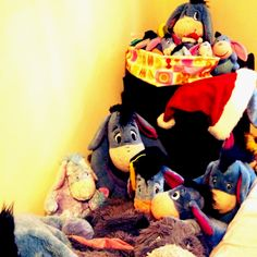 I actually have some of those eeyores, this looks like me and leland's bedroom..eeyore everywhere!