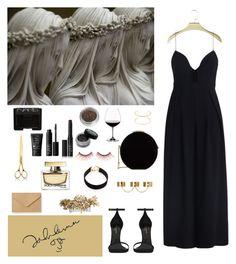 """Dress"" by djulia-tarasova ❤ liked on Polyvore featuring NARS Cosmetics, Yves Saint Laurent, Chloé, Elie Saab, Riedel, Illamasqua, Vanessa Mooney, El Casco, Dolce&Gabbana and Mike + Ally"