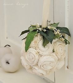 Charlene - white christmas weddings  crafts DIY decorations with any flowers any color