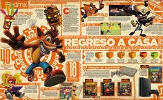 Crash Bandicoot  #Crash #Bandicoot #playstation #retro #videogame #infographic #infografia