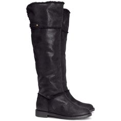 H&M High boots ($27) ❤ liked on Polyvore