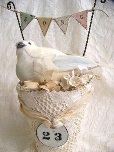 Nesting Bird in a Peat Pot~