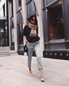 Cómo vestirte para ir a la oficina en otoño con un look elegante
