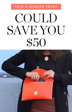 The 5-Minute Trick That Could Save You $50 via @PureWow