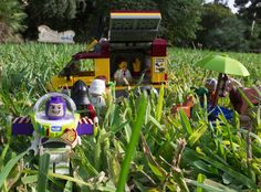 It's almost #breaktime what about having a pic-nic?  #lego #summer #grass