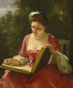 """""""An afternoon's delight""""-Carl Leopold Müller(1834-1892)"""