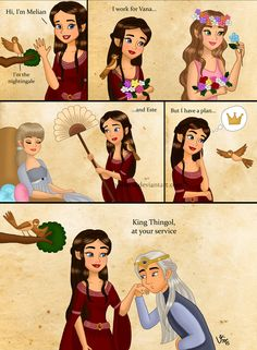 Of Melian (and Thingol) by valloria on DeviantArt. This is a pretty accurate summary lol! xD