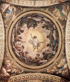Correggio: la Visione di San Giovanni Evangelista, affresco, 1520-1524, chiesa di San Giovanni Evangelista, Parma