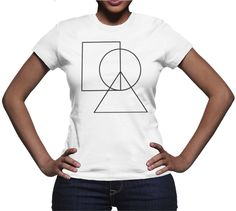 Women's Made in USA Peace Sign T-Shirt Love Clothing, Peace And Love, T Shirts For Women, Stylish, Lady, Tees, Mens Tops, How To Make, Cotton