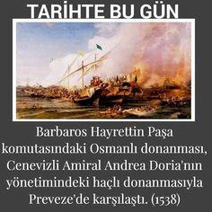 """Instagram'da Kenan Gümüş ...✒: """"👳TarihteBugün.. 📌Barbaros Hayrettin Paşa komutasındaki Osmanlı donanması, Cenevizli Amiral Andrea Doria'nın yönetimindeki haçlı…"""""""