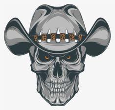 Evil Skull Tattoo, Skull Tattoos, Sleeve Tattoos, Hat Vector, Vector Free, Airbrush, Western Tattoos, Skull Artwork, Pirate Skull