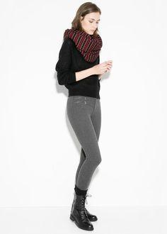 MANGO - Zip-detail slim-fit trousers #FW14