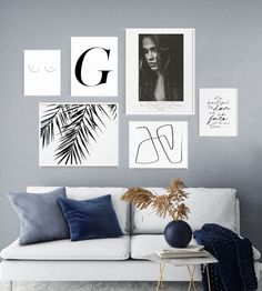 This Minimalist Gallery-wall art Bundle is beautiful on both a dark wall or a white wall for an all-white minimalist look. The bundle offers an advantageous price point, with discounts between 25% and 35% from the original à la carte price. This set consists of 6 art prints (not framed), each