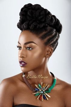 Dionne Smith Natural Hair Inspiration - Bellanaija - - Nigeria breaking & top news to the World Read Today Fancy Hairstyles, African Hairstyles, Braided Hairstyles, Hairstyle Short, Natural Hair Types, Natural Hair Updo, Hair Afro, African Braids, Girls Braids