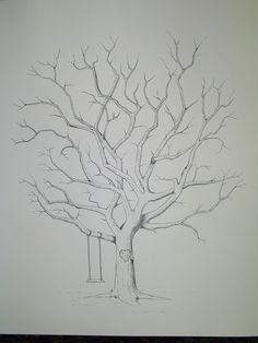 thumb print tree drawn for a wedding. contact Jessica at jholcombe121@gmail.com for order info