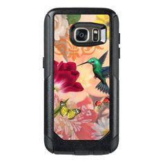 Hummingbird & Flower Garden Botanical Collage OtterBox Samsung Galaxy S7 Case