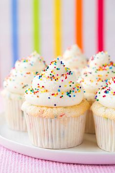 Get the recipe: funfetti angel food cupcakes Image Source: Cooking Classy
