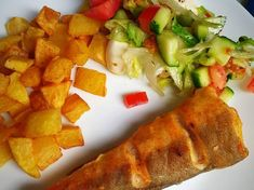 Tepsiben sült hekk MiCsillától | MiCsilla receptje - Cookpad receptek Cornbread, Dinner, Ethnic Recipes, Food, Gourmet, Millet Bread, Dining, Meal, Dinners