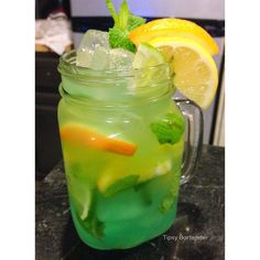 Tropicool Cocktail - For more delicious recipes and drinks, visit us here: www.tipsybartender.com