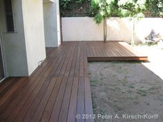 Completed Ironwood back yard deck - Playa Del Rey, CA