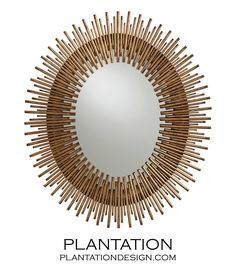 Kentwood Oval Wall Mirrors | Gold. Available in small and large