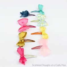Ten Minute Hair Bows - How to make hair bows in under half an hour.