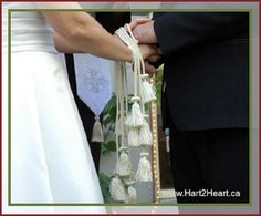 More traditional wedding style handfasting