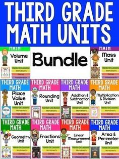 3rd Grade Math Units - Get a complete math unit to teach ALL of the third grade math Common Core Standards. Units include performance tasks, printables, games, and more! $ Financial Planning