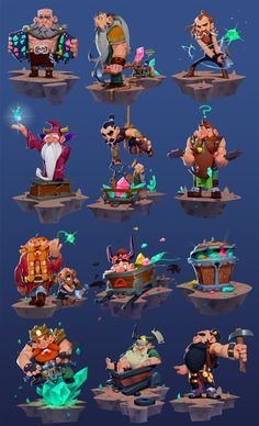 Dwarf Collection, Max Grecke on ArtStation at https://www.artstation.com/artwork/dwarf-collection