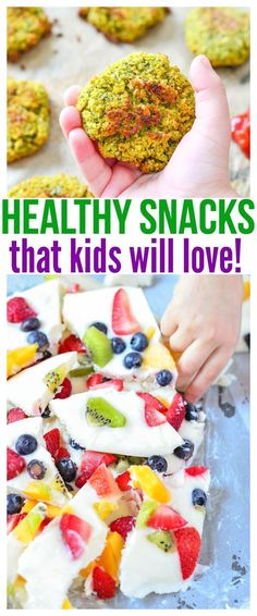 Whether you're looking for healthy snacks for kids on the go or healthy snacks for picky eaters at home, we have a ton of fun kid friendly recipes in this food round up that will definitely get praise from parents and kiddos! Healthy Bedtime Snacks, Healthy Kids, Easy Healthy Recipes, Baby Food Recipes, Healthy Snacks For Kids On The Go, Healthy Lunches, Dinner Healthy, Healthy Kid Friendly Recipes, Recipes Dinner
