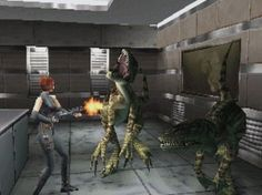 Dino Crisis on Playstation 1 - made by Capcom and basically a copy of Resident Evil, but with dinosaurs. Again, the emotive music, gloomy atmospherics and the storyline all combined to create a truly immersive 'survival horror'.