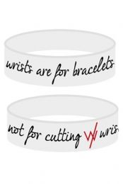Wrists Are For Bracelets (White) Accessories from Sleeping With Sirens NEED <3<3<3