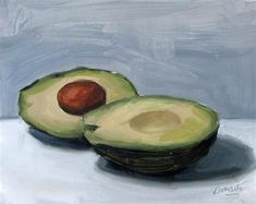 "Daily+Paintworks+-+""Avacados""+-+Original+Fine+Art+for+Sale+-+©+D.C.+Morale"