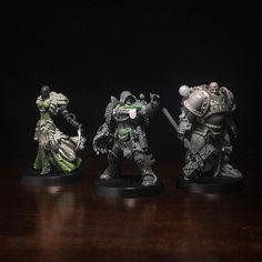 Ordo Xenos assemble! More work to go on these three and two more characters still to invent. I think I've found my favorite part of the hobby in warbands. #warhammer #40k #gamesworkshop #conversion #inquisition