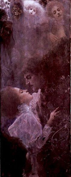 Klimt: Love { 1890 } detail