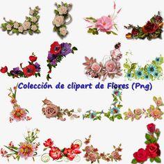 Recursos Photoshop Llanpac: Colección de clipart de flores para fotomontajes (...