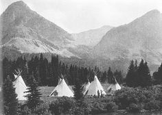 Blackfeet encampment