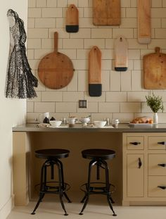 Breadboards and art on the wall of the Modern Pantry, which I designed with Tinsley Hutson Wiley at the SF Decorator Showcase. Photo by John Merkl.