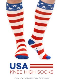 Just in time for Independence day! Check out more of our Softball Knee High Socks on our site!
