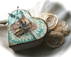 I Heart Shabby Chic: Shabby Chic Heart Shaped Alchemy Boxes