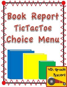 Book Report Choice Board  Books Book Reports And Language Arts