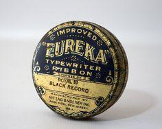 VINTAGEOUS2 http://pinterest.com/atticatalley/vintageous2/   Eureka Typewriter Ribbon