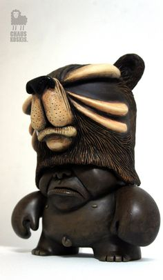 """custom teddy troopers  """"Voodoo Bear"""" Artist: Chaus Koskis"""