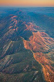 Aerial view of Heysen Range, Flinders Ranges, South Australia