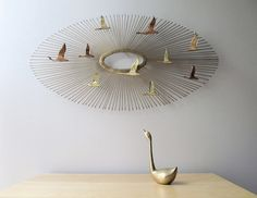 Curtis Jere flying geese sunburst wall sculpture